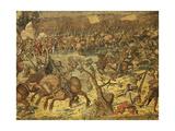 Flemish Tapestry Based on Cartoons by Bernaert Van Orley Representing Charles V Imperial Troops Adv