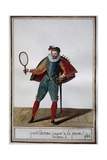 Gentleman Playing Real Tennis in 1586 Under