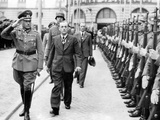General Heinz Guderian and a Recepient of the Knights Cross of the War Merit Cross Walking before S