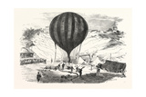 Franco-Prussian War: the Balloon Neptune on the St Pierre De Montmartre Square