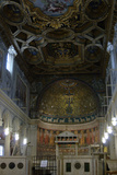 Italy Rome the Basilica of Saint Clement Interior of the Second Basilica and the Apse Mosaic