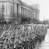 Men of the Aif Marching Past the Town Hall in Melbourne