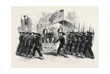 Review of Federal Troops on the 4th of July by President Lincoln and General Scott