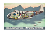 Advertising Poster for the 'Flying Boats' of Imperial Airways  1937 (Offset Colour Lithograph)