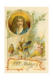 Moliere  French Playwright  and a Scene from His Play Les Precieuses Ridicules