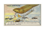 Santos-Dumont Being Rescued after His Airship Crashed into the Sea  Antibes  1902
