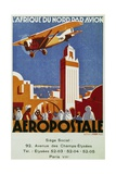 Aeropostale (Airmail)  Air Links with North Africa  Billboard  France  20th Century
