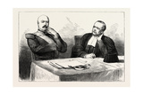 Trial of Marshal Bazaine at Versailles  France: the Marshal and His Counsel  Maitre Lachaud  1873
