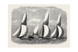 Royal London Yacht Club Cutter Match: the Niobe Sphinx and Vindex Off Coalhouse Point 1866