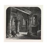 The Apprentice Pillar in Roslin Chapel  Edinburgh and the South Lowlands  Scotland 19th Century