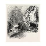 Tunnel on the St Gothard Road  Near Andermatt  Switzerland  the Passes of the Alps  19th Century