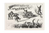 Fire Brigade Competition at the Alexandra Palace  London  1876  Uk