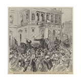 The Kossuth Riots in Buda-Pesth  the Military Dispersing the Mob in Front of the Opera House