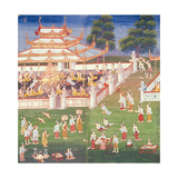 Ma 565 Monks at their Annual Meeting in June in Mandalay  from the Nimi Jataka  1869
