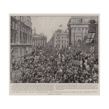The News of the Relief of Ladysmith  the Demonstration in Front of the Mansion House