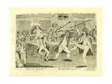 Congressional Pugilists: Griswold and Lyon  at Congress Hall  Philadelphia  Pa  1798