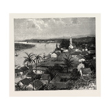 View of the City of Tuxpan from Observatory Hill  Looking West  Mexico  1888