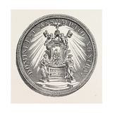 Medal of Pope Alexander Viii  Whose Pontificate Lasted from 1689 to 1691  1851