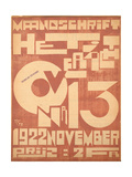 Cover for the November 1922 Issue of the Magazine 'Het Overzicht'  1922