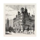 The New Police Offices on the Victoria Embankment  London  1890  UK