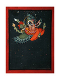 On the Wings of Garuda: Krishna and Satyabhama Fly Through the Night Sky  C1750