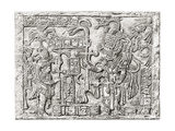 Decorative Lintel from the Ancient Mayan City of Yaxchilan  Chiapas  Mexico