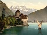 Chillon Castle  and Dent Du Midi  Geneva Lake  Switzerland  C1890-C1900