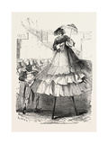 The Derby Day  Scenes by the Roadside and on the Downs: Crinoline on Stilts Uk  1860
