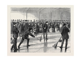 Prince Arthur Opening the Caledonia Curling Rink at Montreal  Canada  1870