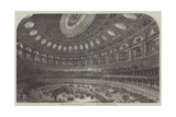 Interior of the Proposed Royal Albert Hall of Arts and Sciences  Kensington Gore