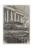 The Second Inauguration of President Lincoln in Front of the Capitol at Washington