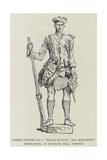 Oaken Figure of a Black Watch (42nd Regiment) Highlander  at Blickling Hall  Norfolk