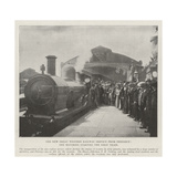 The New Great Western Railway Service from Penzance  the Mayoress Starting the First Train