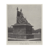 The Statue of Queen Victoria at Calcutta  Unveiled by the Viceroy of India  19 March