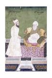 Ghaus Al-'Azam  Abdul Qadir Ghilani of Baghdad  C 1800 (Gouache with Gold Paint on Paper)