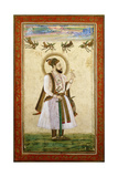 Portrait of Muhammad 'Adil Shah Ii  C1650 (W/C and Gold Paint on Paper)