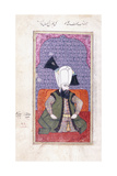 Portrait of Sultan Ahmed III (1673-1736)  18th Century (Gouache with Gold Paint on Paper)