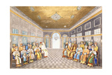 The Nawabs and Kings of Oudh in a Palace Interior with their Servants in Attendance  C1800