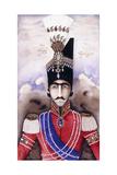 Portrait of Nasir-Ud-Din Shah Qajar (King of Persia)  C1845-1850 (Painting)