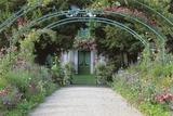 Bridge in Front of a House  Claude Monet's House and Garden  Giverny  Haute-Normandie  France