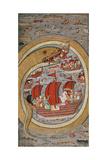 A Monstrous Serpent Devouring the Royal Fleet  C1670-1690 (Illuminated Manuscript)