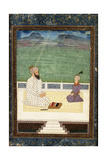 A Mullah and a Pupil  18th Century (Gouache Heightened with Gold  on Paper)