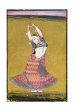 Dancing Girl  Early 19th Century (Gouache with Gold and Silver Paint on Paper)