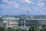High Angle View of a Palace in a City  the Hofburg Complex  Heldenplatz  Vienna  Austria