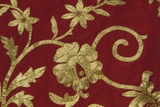 Gold Thread Embroidery on Traditional Female Costume of Piana Degli Albanesi  Sicily  Italy  Detail
