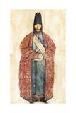 Portrait of the Late Sam Khan Ilkhani  19th Century (W/C on Cream Paper)