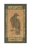 A 19th Century Persian Calligraphic Inscription in the Shape of a Falcon