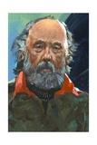 Portrait of Konstantin Tsiolkovsky (Izhevsk 1857-Kaluga  1935)  Russian Pioneer of Astronautics