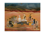 The Death of Bhishma  Mortally Wounded by Arjuna's Numerous Arrows  C1760-1770