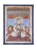 Portrait of Akbar Shah Ii  Early 19th Century (Gouache with Gold Paint on Paper)